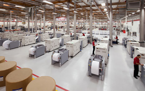 Bridge Publications manufacturing floor