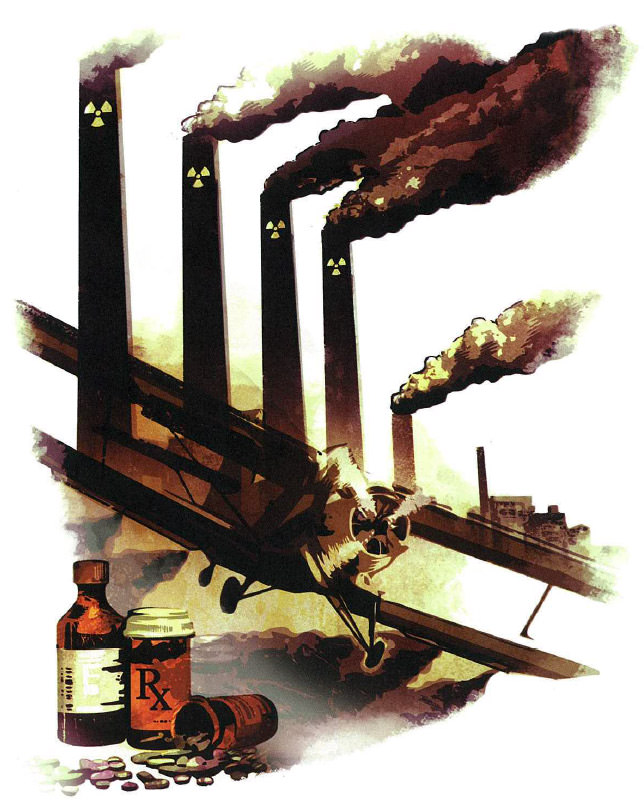 toxic substances illustration